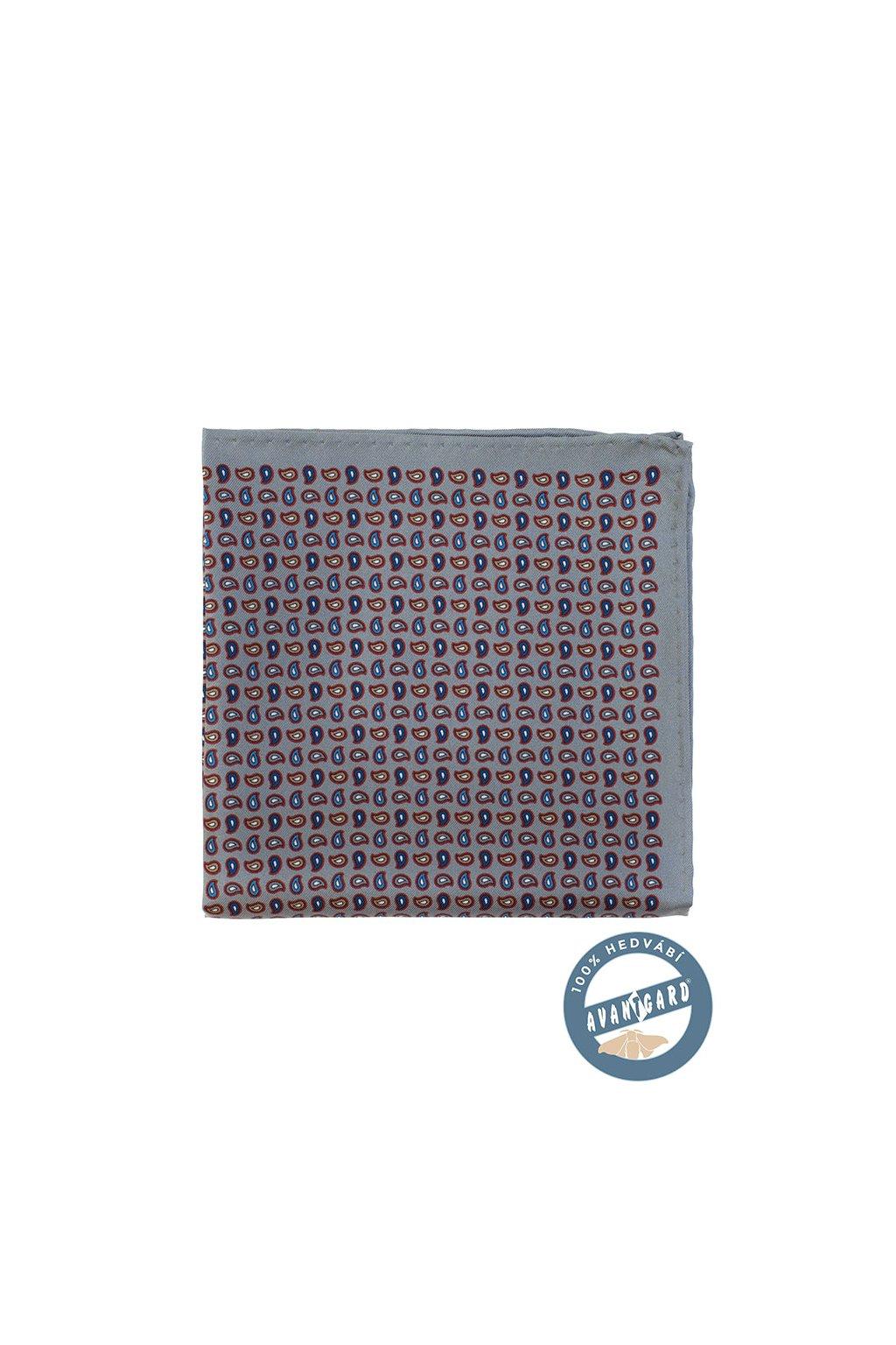 Kapesníček do saka hedvábný PREMIUM šedá 610 - 5702