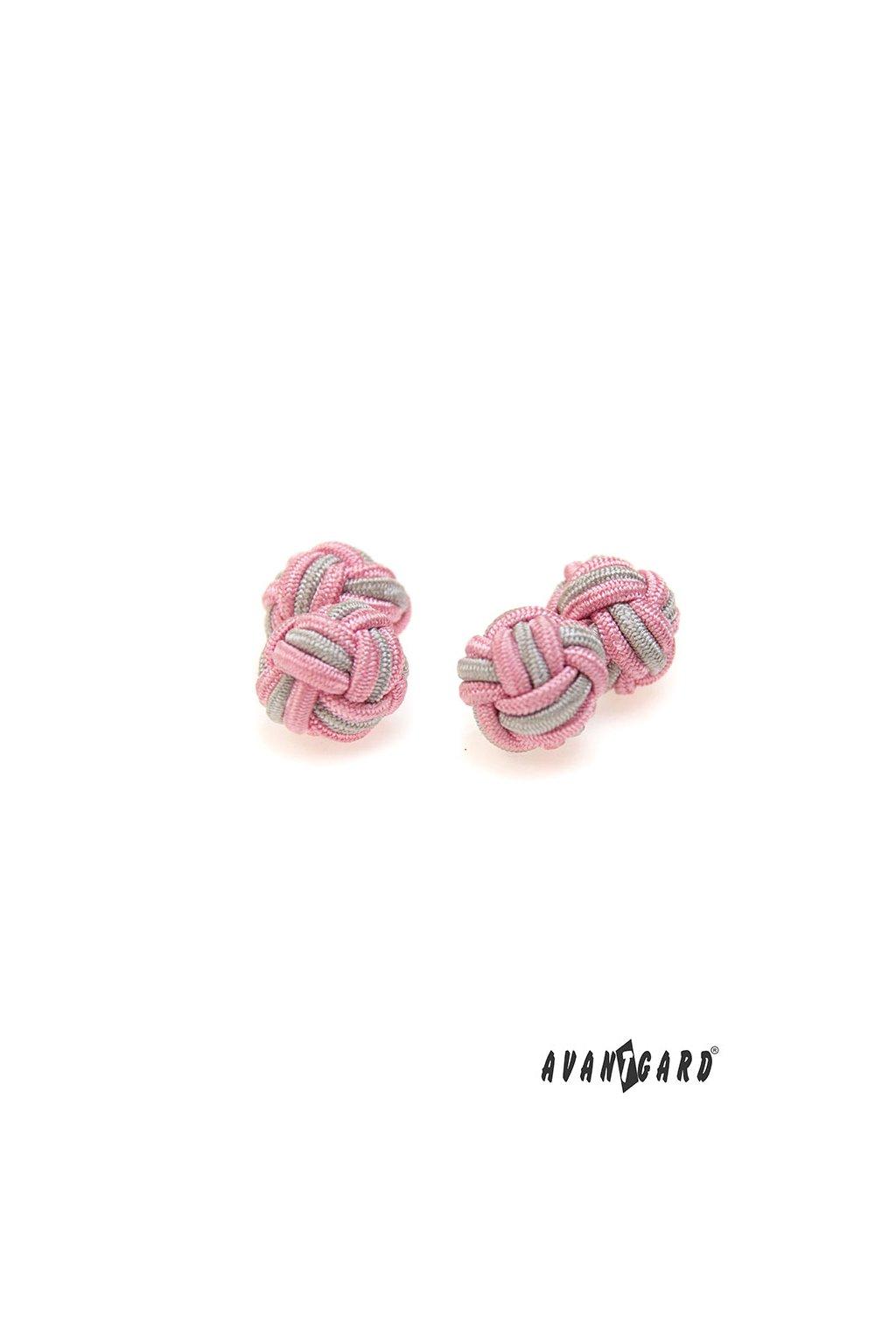 Knots - manžetové uzlíky AVANTGARD růžová 614 - 0921