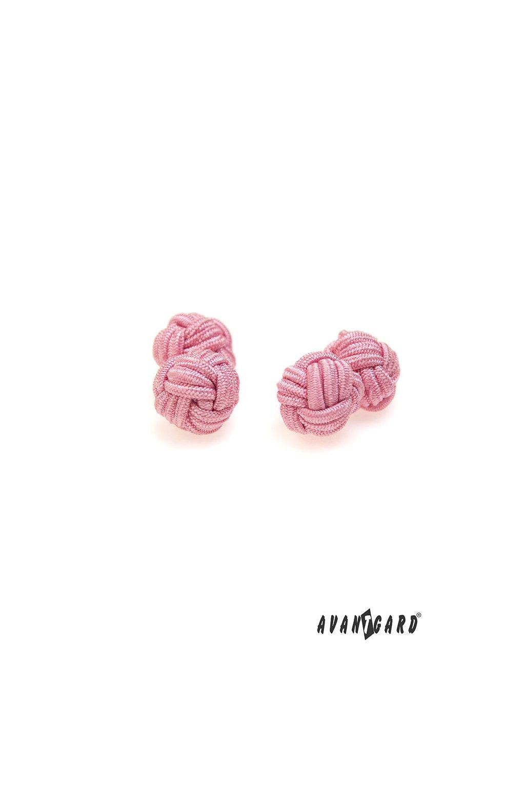 Knots - manžetové uzlíky růžová 614 - 9