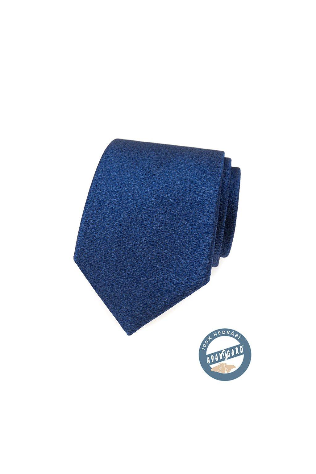 Kravata hedvábná v dárkové krabičce modrá 621 - 7742
