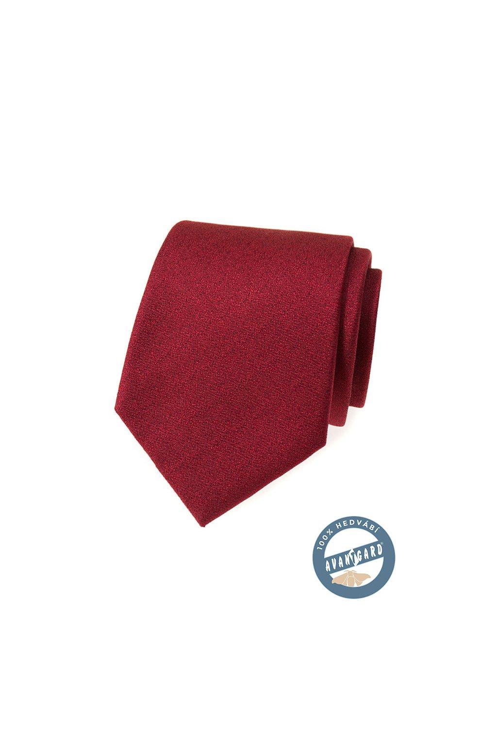 Bordó hedvábná kravata 621 - 7751
