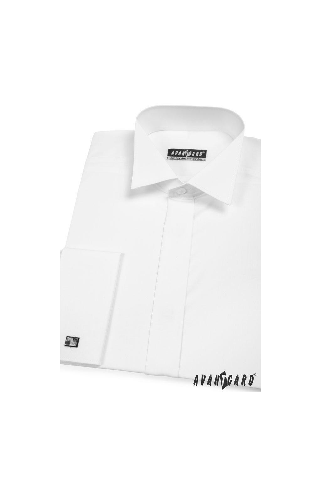 Pánská košile FRAKOVKA MK s krytou légou bílá 671 - 1