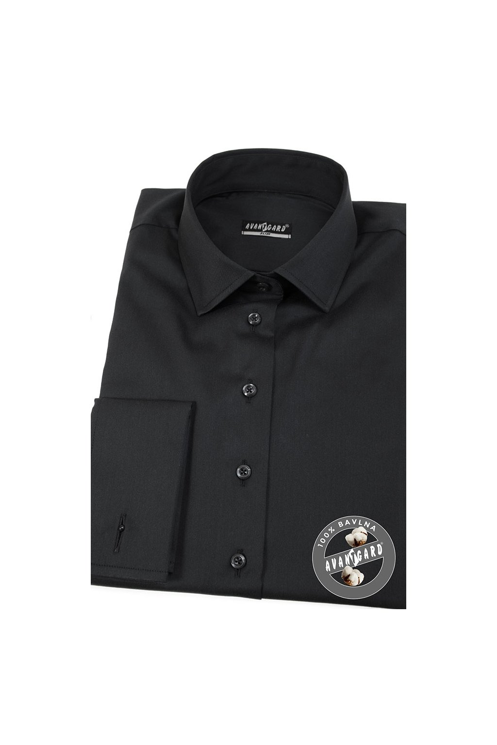 Dámská košile na MK černá 722 - 2323