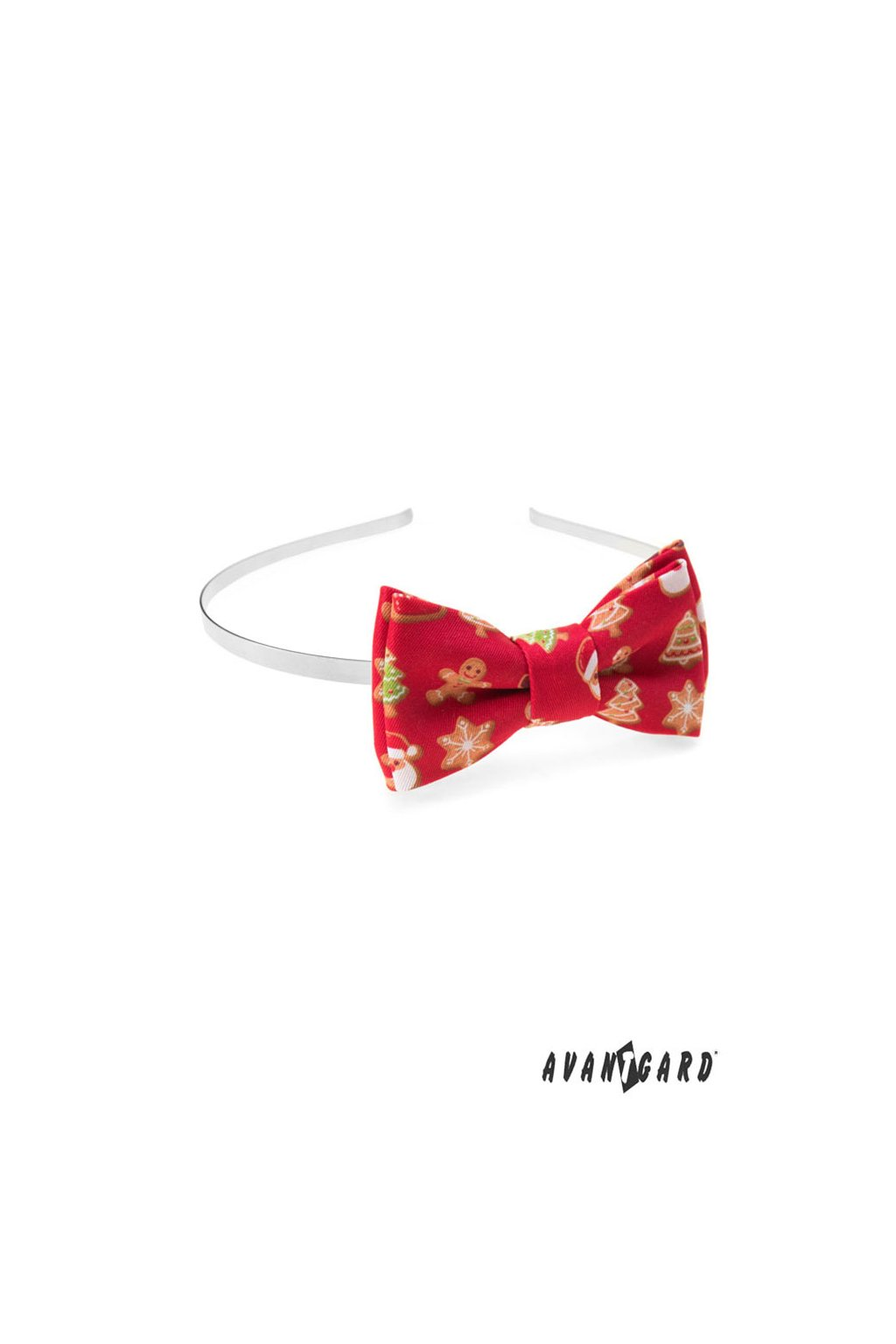 Čelenka s motýlkem červená/perníček 756 - 1984