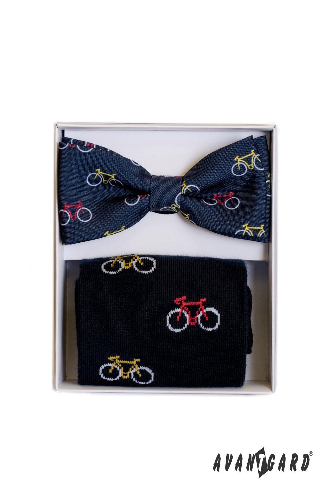 Set motýlek a ponožky modrá / vzor cyklo 779 - 05001