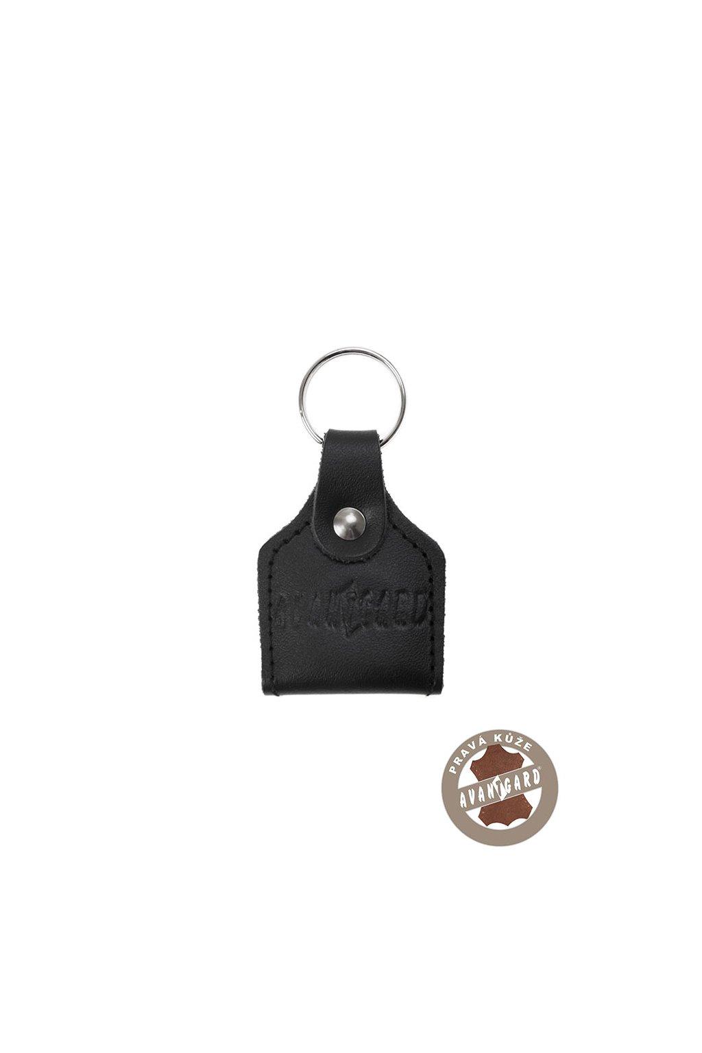 Klíčenka z pravé kůže s žetonem černá 801 - 23
