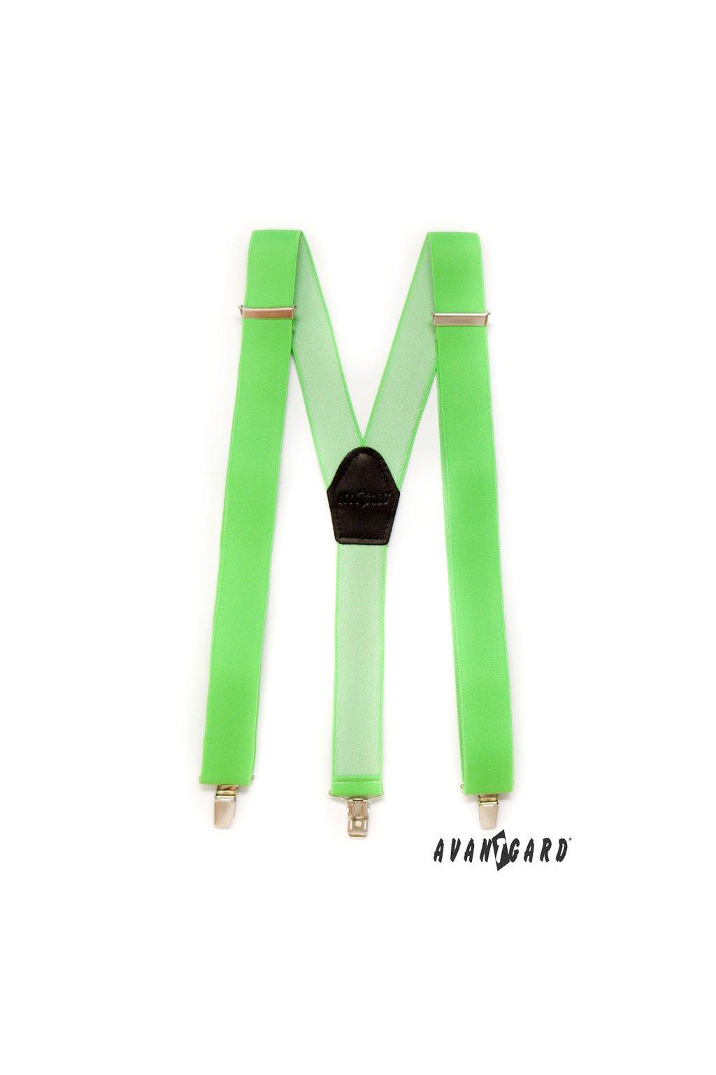 Zelené neonové šle Y na klipy 856 - 9026