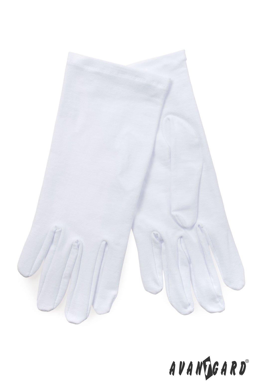 Pánské bílé společenské rukavičky  859 - 1