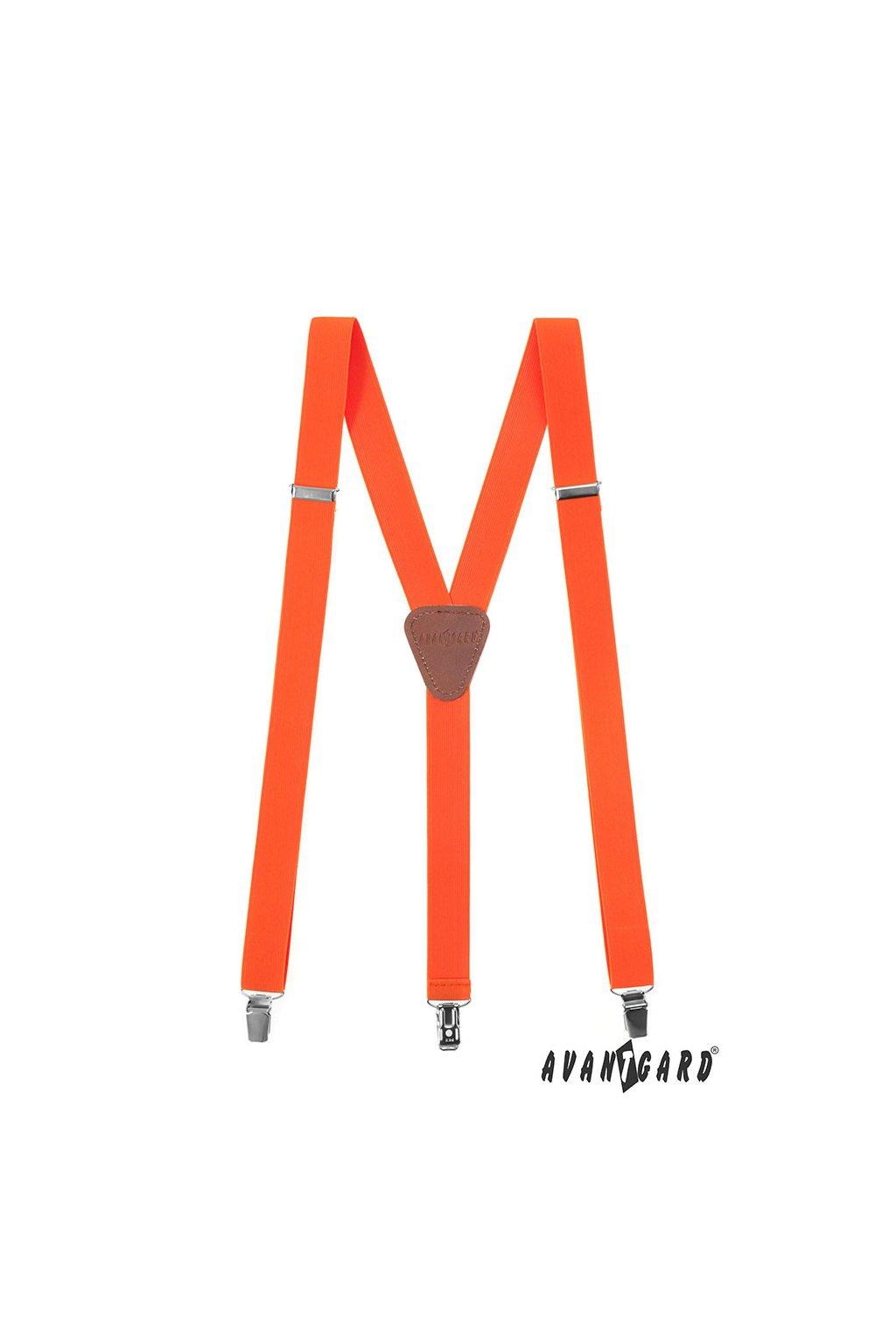 Oranžové šle Y na klipy 867 - 902563