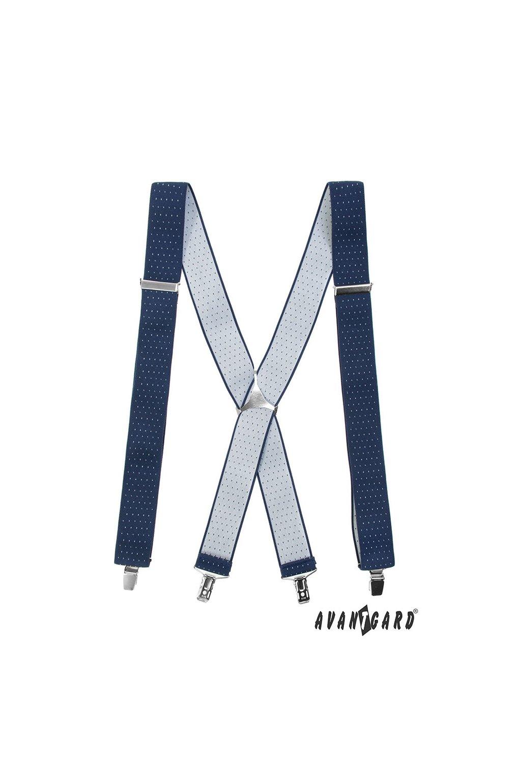 Modré šle X zapínaní na klipy 871 - 3102