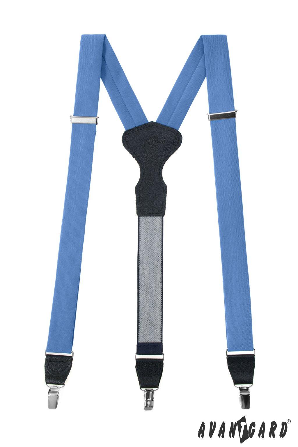 Modré látkové šle Y s klipy 878 - 985131