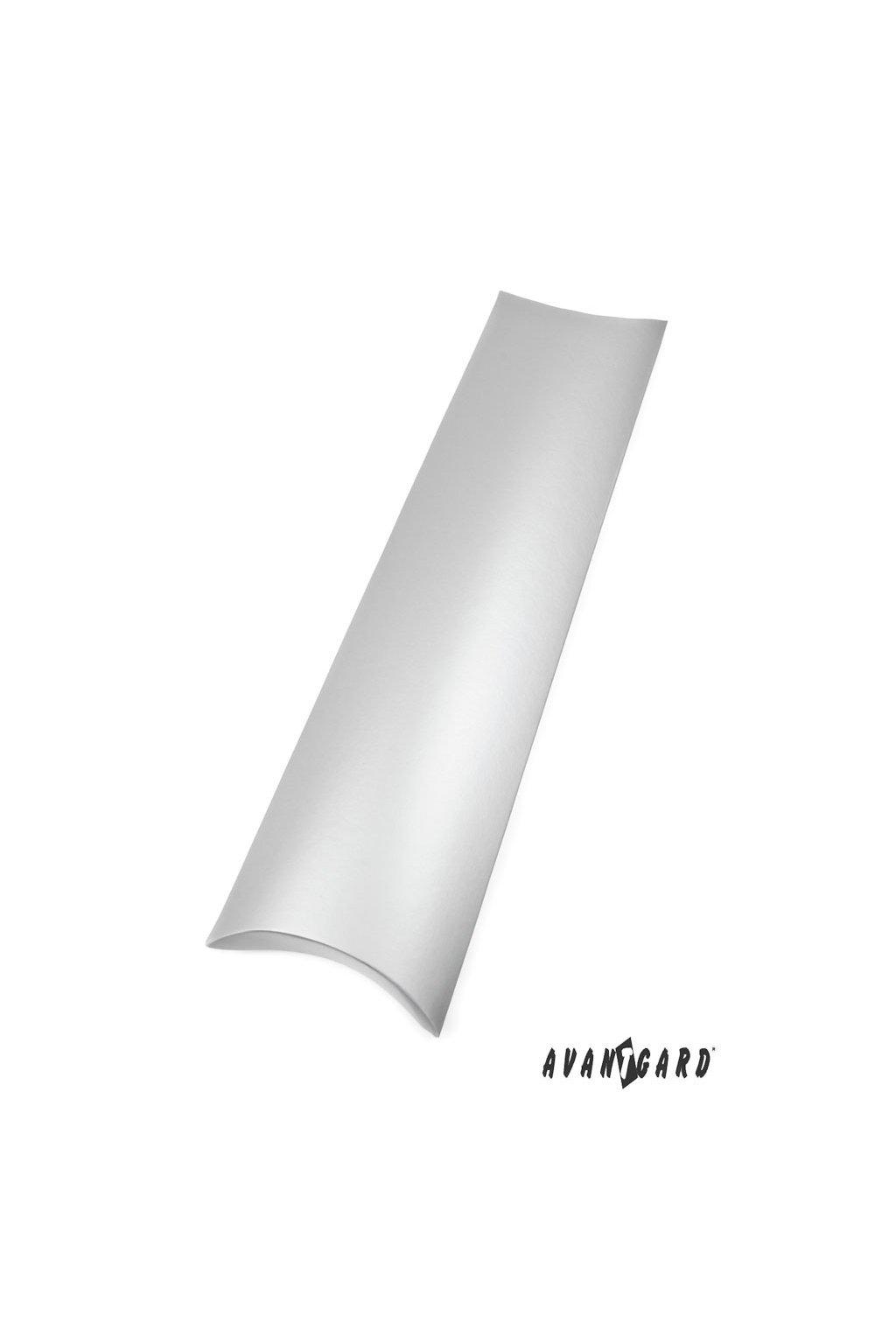 Dárková krabička na kravatu stříbrná 902 - 21
