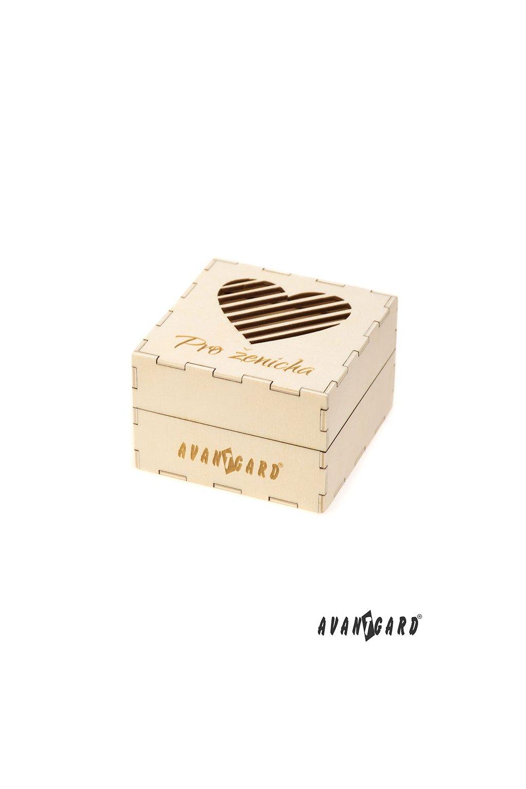 """Dřevěná dárková krabička """"Pro ženicha"""" přírodní dřevo 923 - 3720"""
