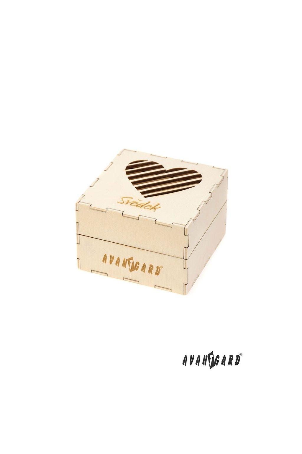 Dřevěná dárková krabička Svědek přírodní dřevo 923 - 3723