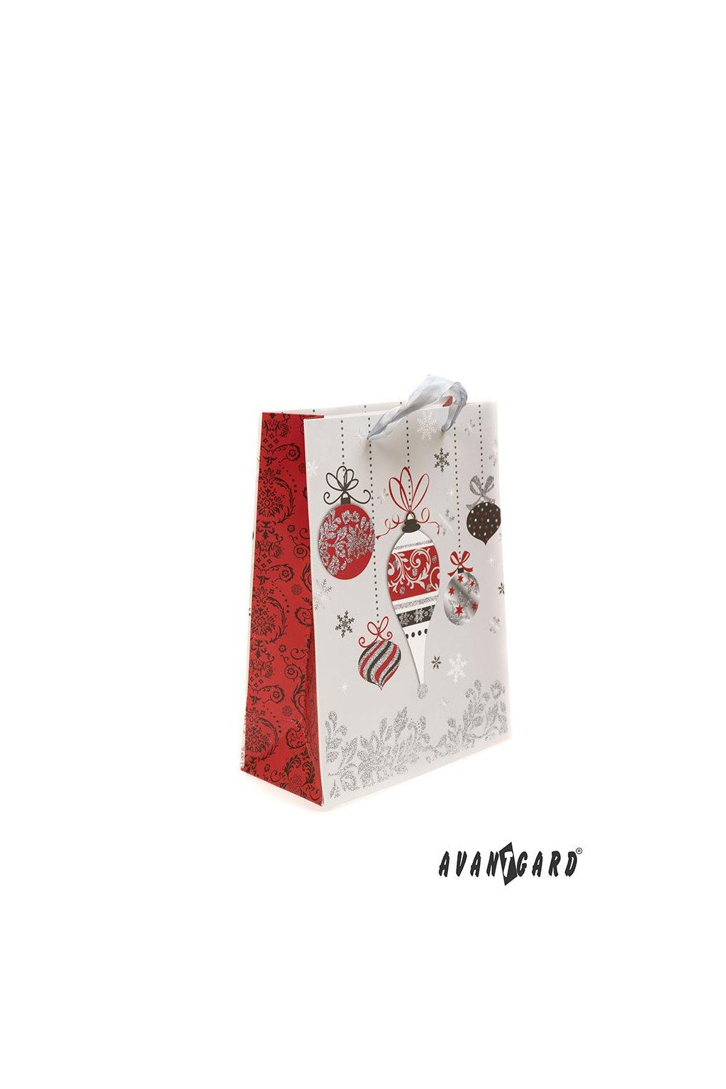 Dárková taška - vánoční stříbrná 936 - 21