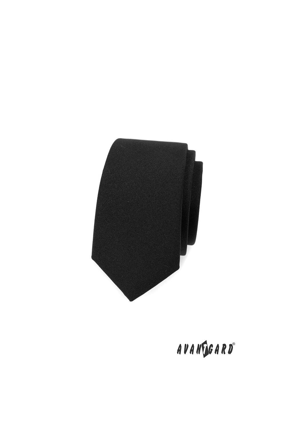 Kravata SLIM LUX černá 571 - 9856