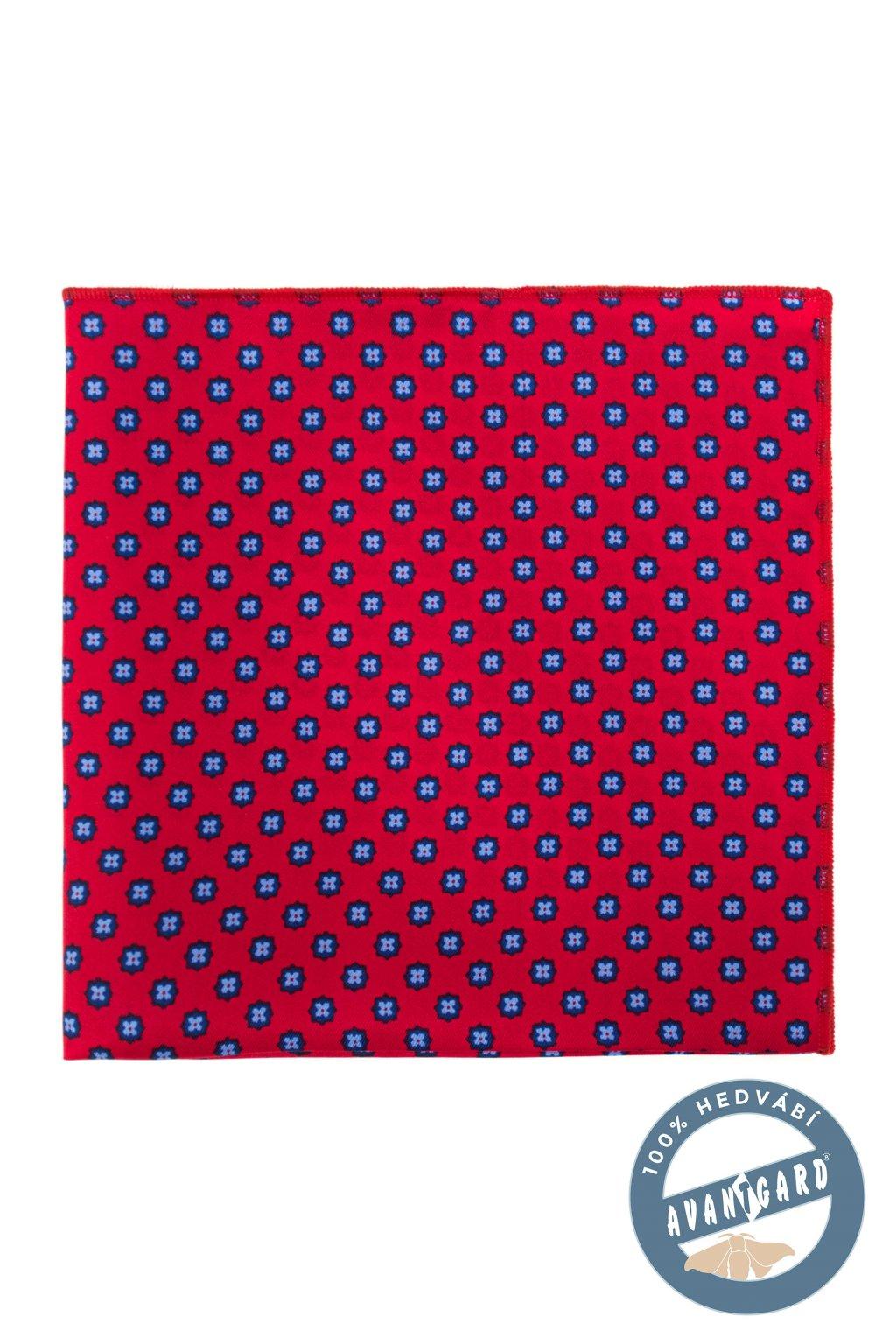 Kapesníček do saka hedvábný PREMIUM červená 610 - 3159