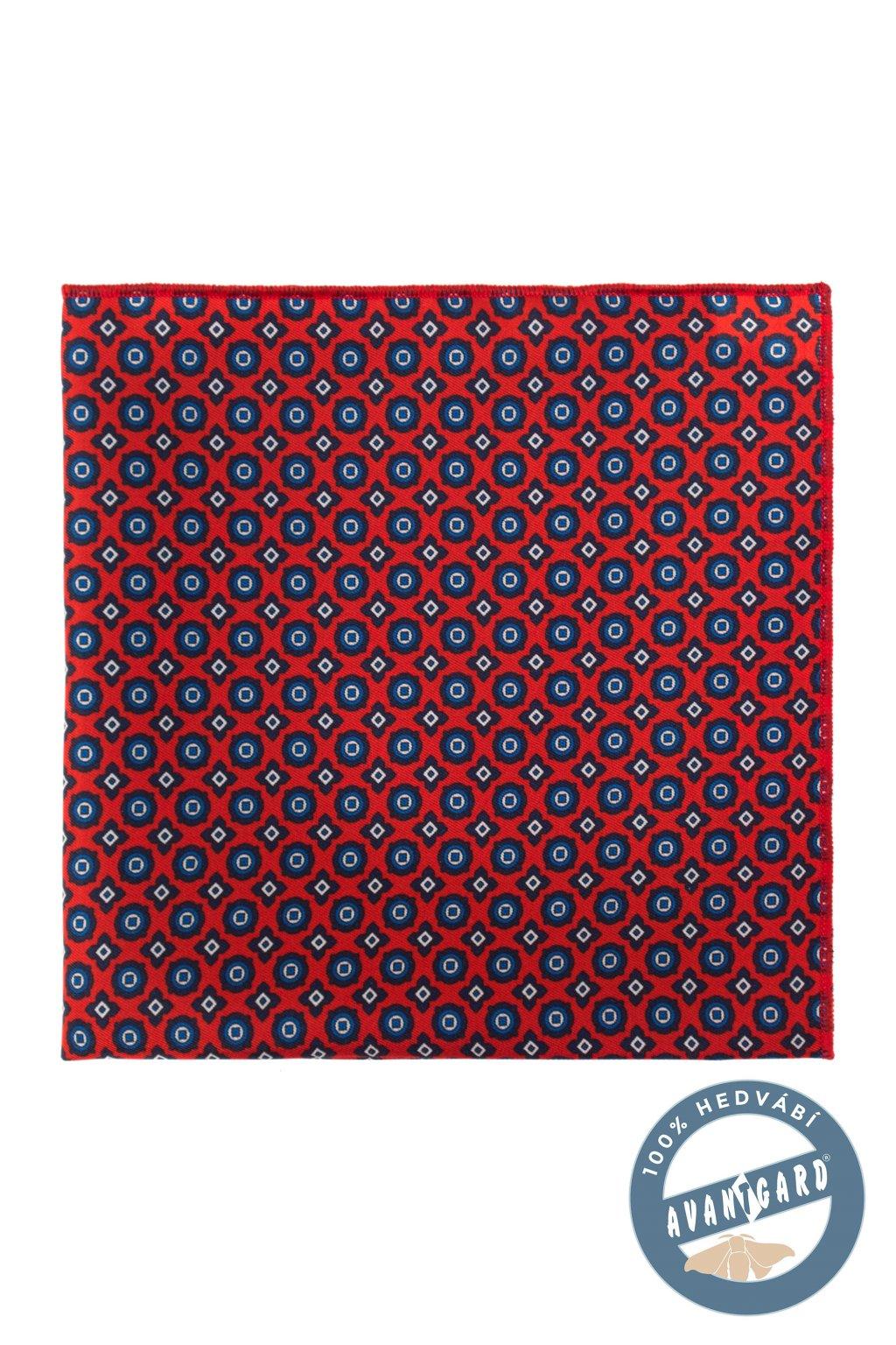 Kapesníček do saka hedvábný PREMIUM červená 610 - 3188