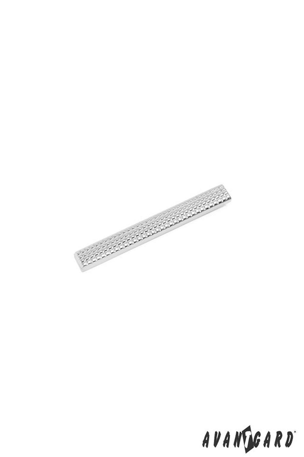 Spona na kravatu SLIM stříbrná 572 - 20121