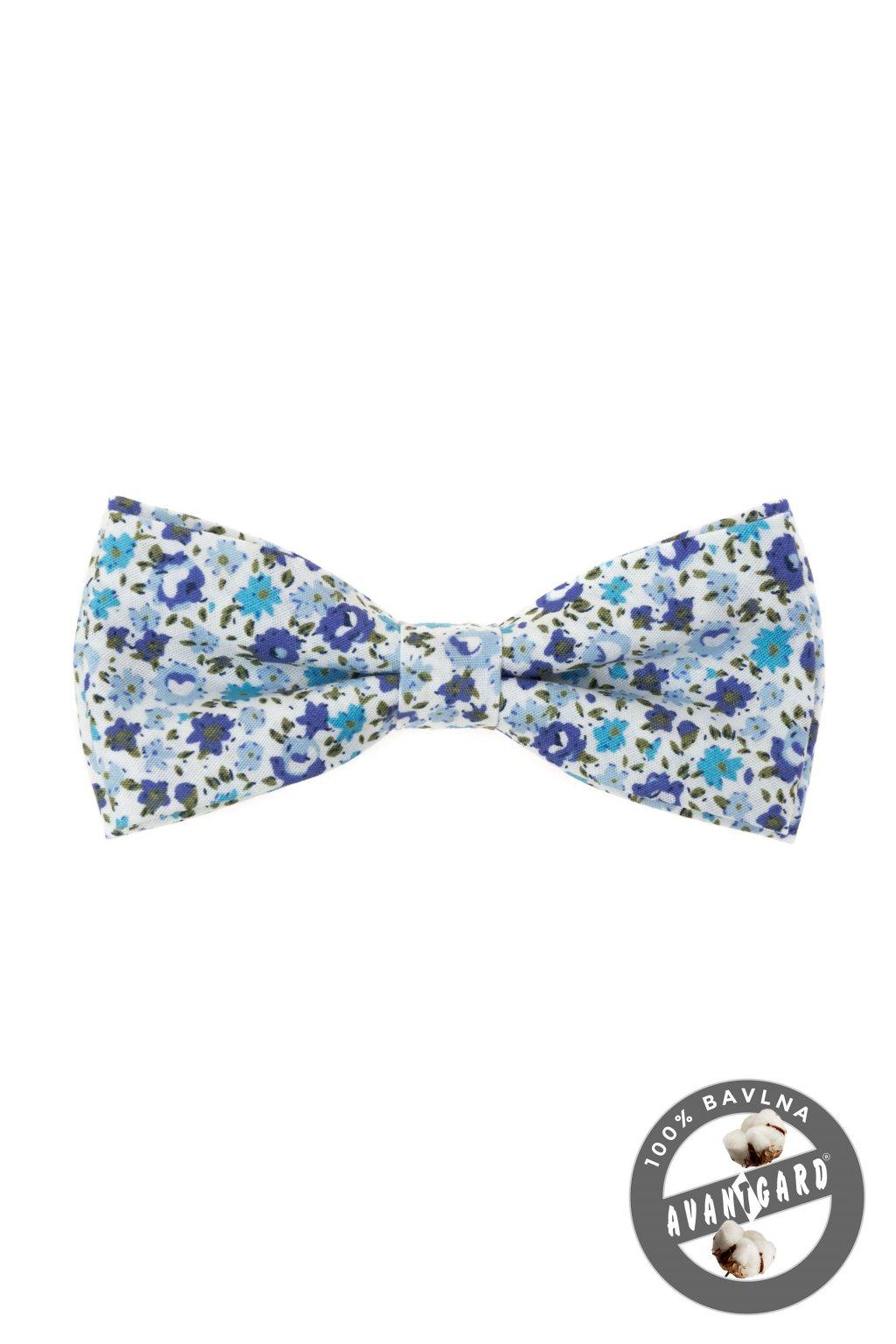 Motýlek PREMIUM bavlněný modrá 600 - 51032