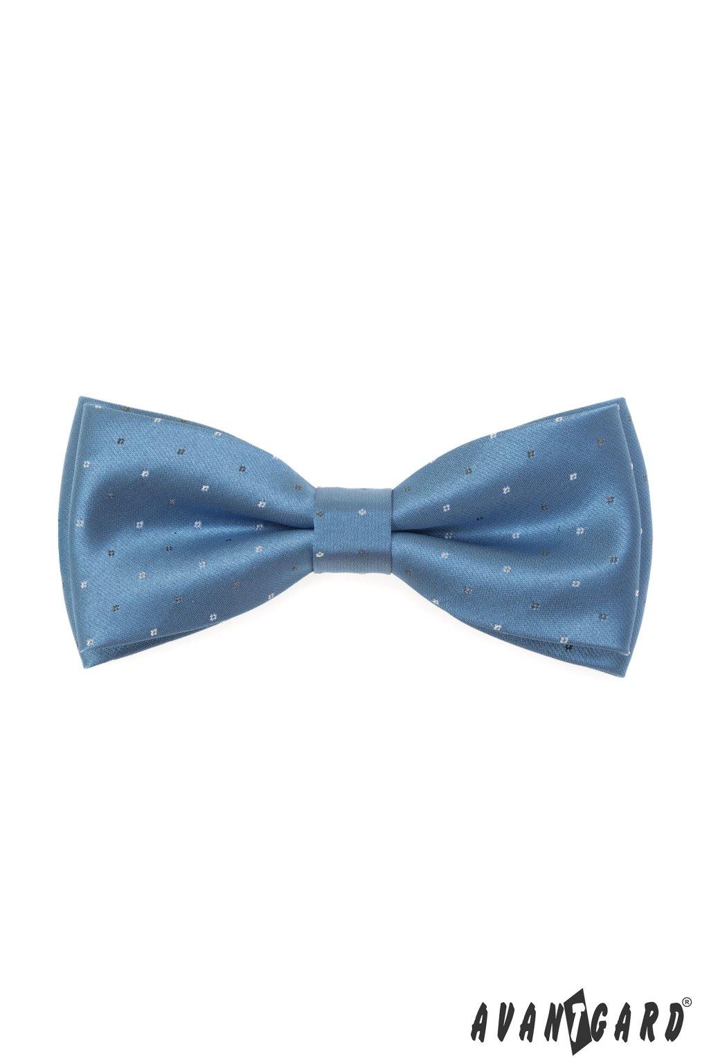 Motýlek s kapesníčkem modrá 575 - 22076