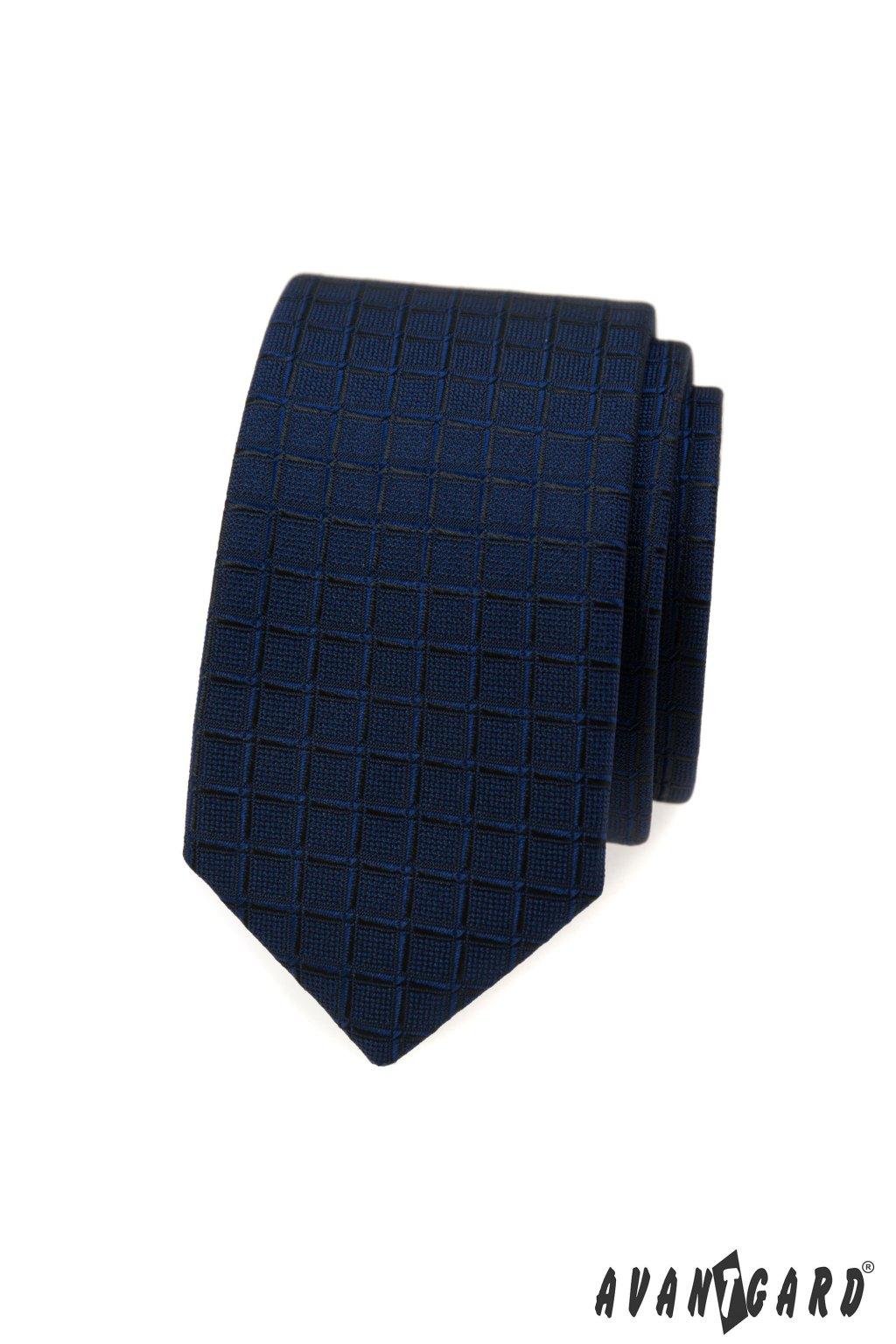 Kravata SLIM modrá 551 - 390