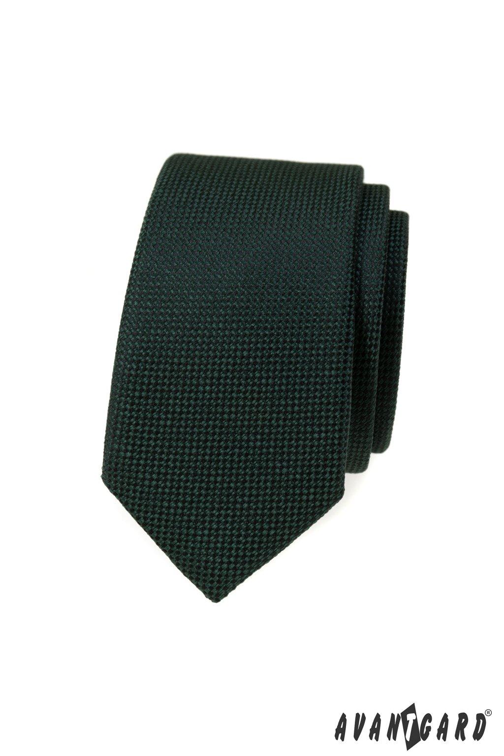 Kravata SLIM zelená 551 - 392