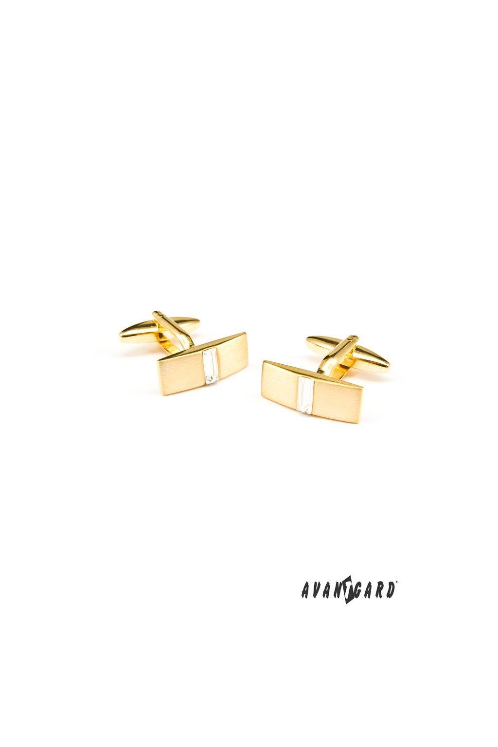 Manžetové knoflíčky PREMIUM zlatá mat 573 - 10055