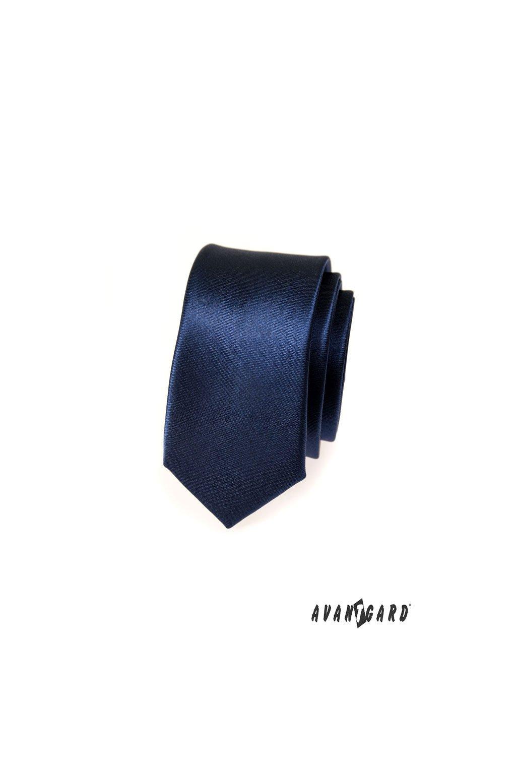 Modrá kravata Slim tmavá 551 - 782