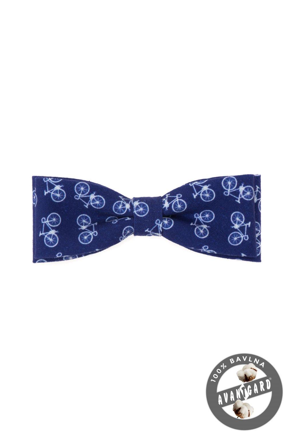 Motýlek KLASIK bavlněný modrá/cyklistika 576 - 250