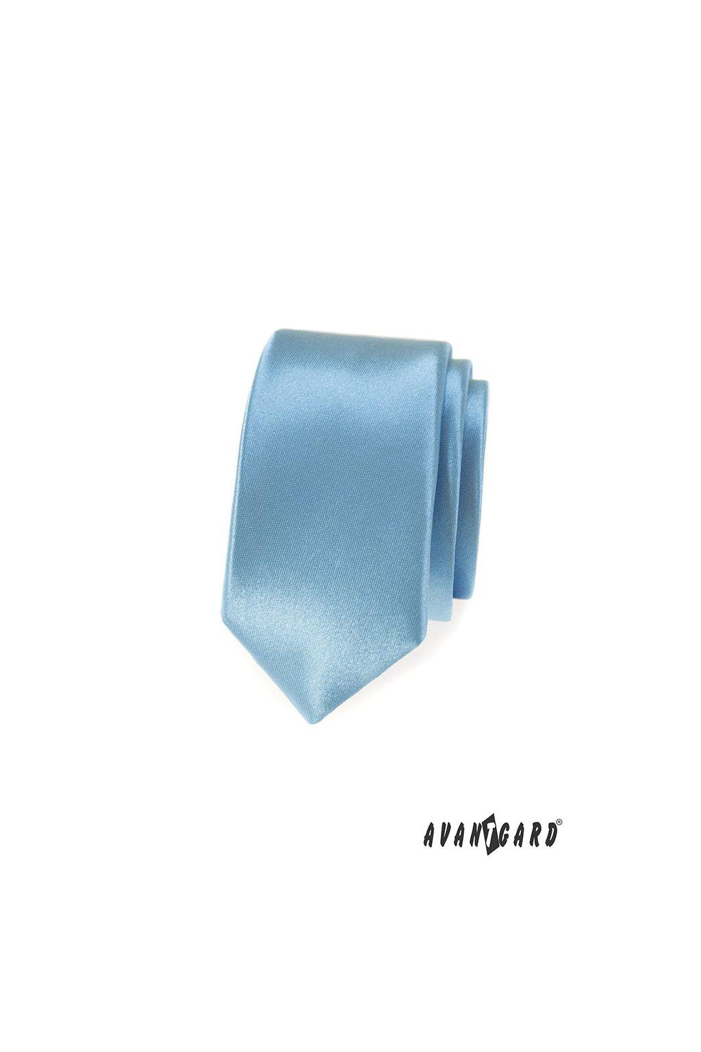 Kravata SLIM LUX modrá 571 - 9014