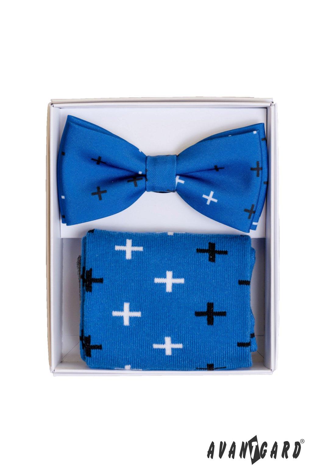 Set motýlek a ponožky modrá 779 - 05007