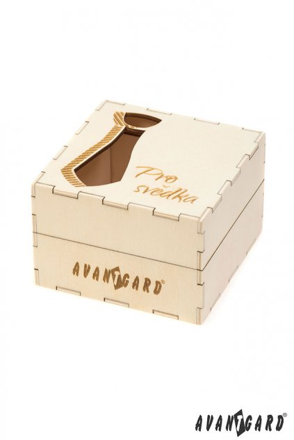 """Dřevěná dárková krabička """"Pro svědka"""" přírodní dřevo 923 - 3717"""