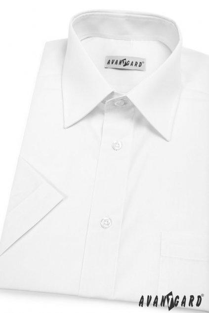 Pánská košile KLASIK s kr.ruk. bílá 351 - 1