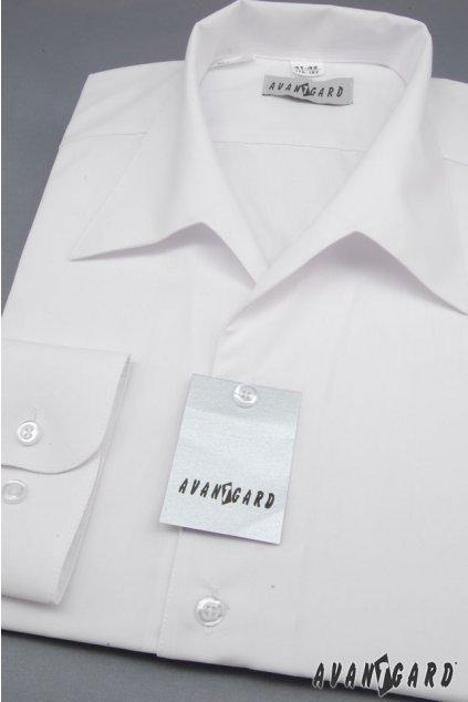 Pánská košile s rozhalenkou, dl.rukáv bílá 457 - 1