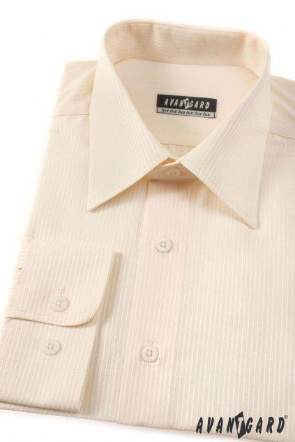 Pánská košile KLASIK dl.ruk smetanová 527 - 1103