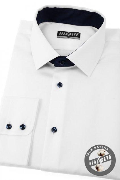 Pánská košile KLASIK dl.rukáv bílá 509 - 9131