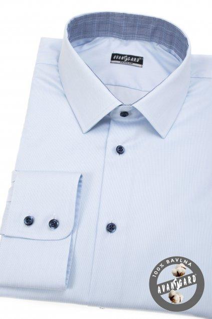 Pánská košile REGULAR dl.rukáv modrá 207 - 4555