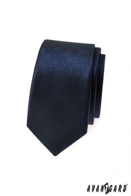 Pánská kravata SLIM modrá 551 - 333