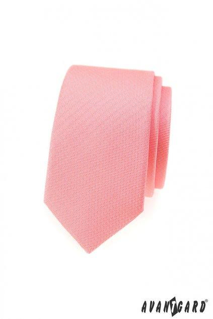 Jemná lososová kravata Slim 551 - 355