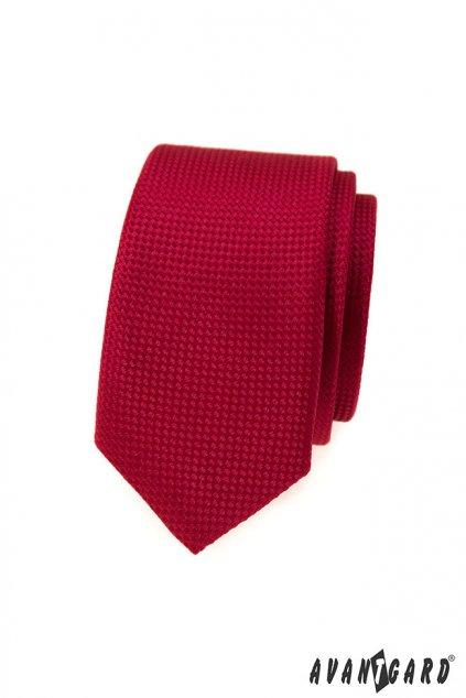 Červená kravata Slim 551 - 373