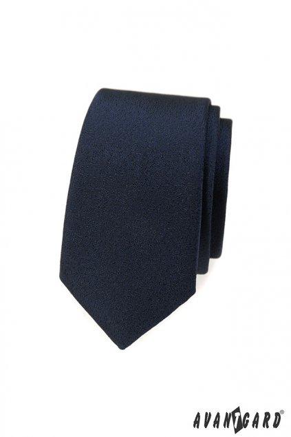 Tmavě modrá kravata Slim 551 - 375