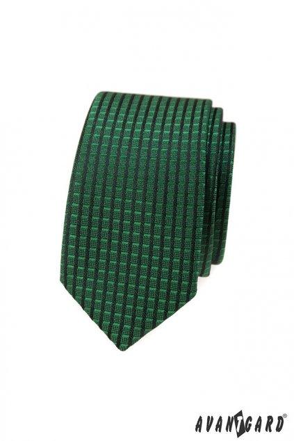 Tmavě zelená kravata Slim 551 - 377