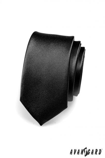 Černá kravata Slim lesklá 551 - 705