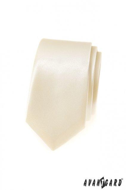 Smetanová kravata Slim 551 - 722