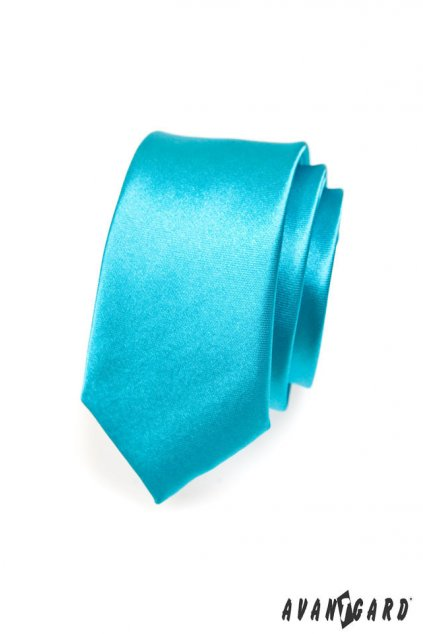Tyrkysová kravata Slim 551 - 741