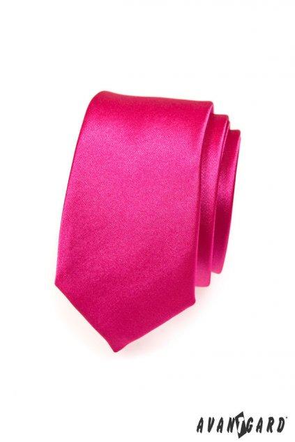 Tmavě růžová kravata Slim 551 - 756
