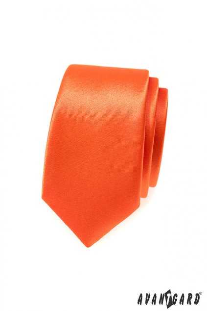 Oranžová kravata Slim 551 - 783