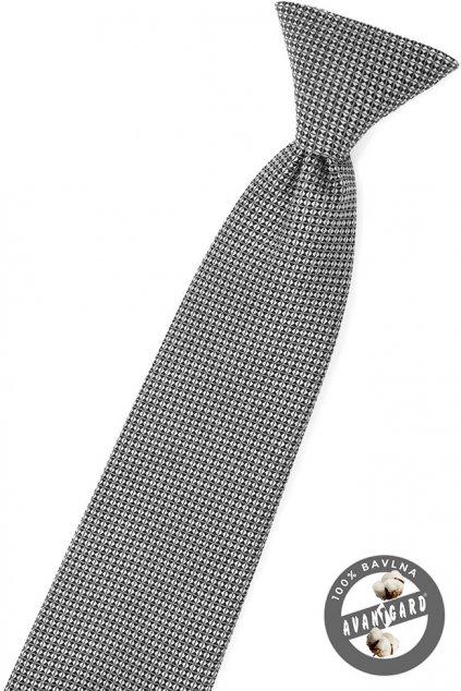 Chlapecká kravata černo-šedá 558 - 5145