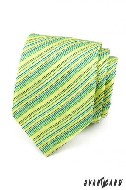 Zelená kravata pruhovaná 559 - 1474